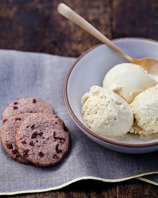 Whole Grain Goodness // Buckwheat Cookies RecipeMarthastewart, Honey Ice Cream, Ice Cream Recipes, Frozen Treats, Buckwheat Cookies Recipe, Food, Little Flower, Whole Grains Recipe, Martha Stewart