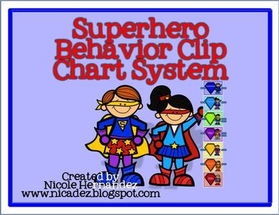 Superhero Behavior Clip Chart System- FREE! FREE! FREE! from A_Teachers_Idea on TeachersNotebook.com -  (8 pages)  - Here is an 8 page behavior clip chart system based on the superheroes theme. Just print onto card stock, laminate and mount.