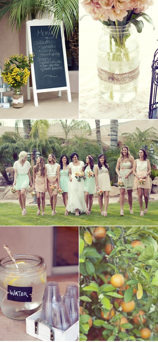 .: Formal Dresses, Bridesmaid Dresses, Candid Bride, Pastel Weddings, Mason Jars, Bride Dresses, The Dresses, Bridesmaid Color, Dresses Bride