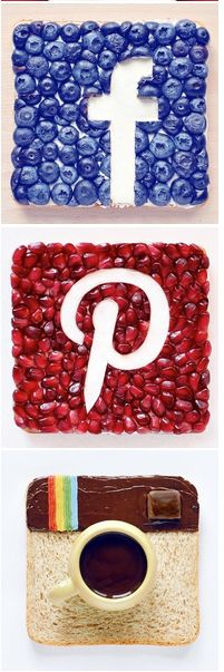 #Facrbook #Pinterest #Instagram #FoodArt #DarynaKossar