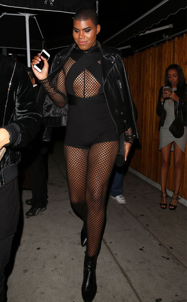 EJ Johnson from The Big Picture: Today's Hot Pics  Dare to bare! The E! star rocks a racy, mesh and cutout number during a night out in West Hollywood.