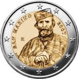 2 euro 200th Birthday of Giuseppe Garibaldi - 2007 - Series: Commemorative 2 euro coins - San Marino