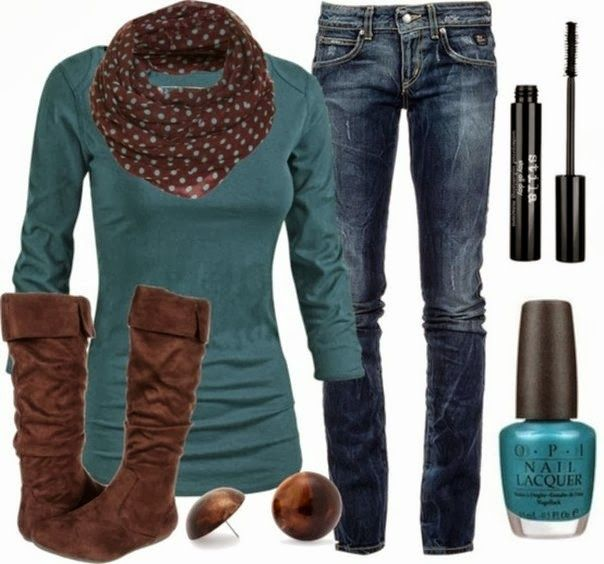 Love this color and the jeans - I'd like them to be more distressed