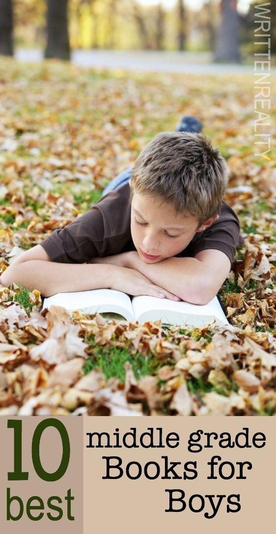10 BEST Middle Grade Books for Boys {writtenreality.com} #boys #reading
