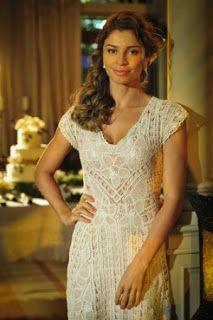 LUCINEIDE MEDEIROS: Personagem de Grazi Massafera casará com vestido em renda Renascença de Caicó