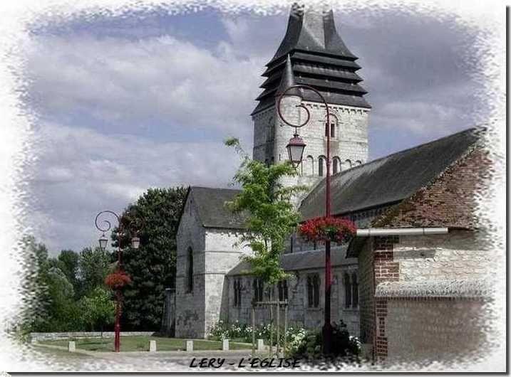 L'église Saint-Ouen à Léry XIe / XIIe siècle. Près des gîtes du Manoir Saint-Ouen.