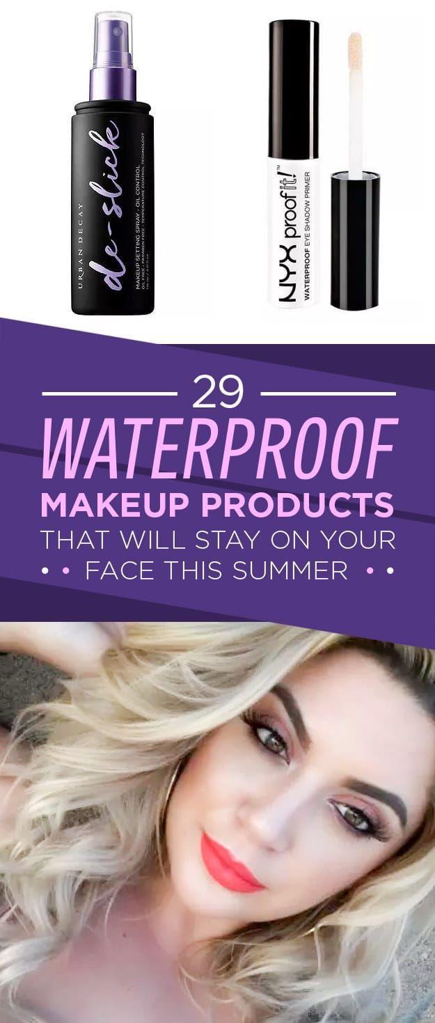 29 wasserfeste Make-up-Produkte, die Ihnen diesen Sommer das Leben retten – #Da …   – https://womenmakeup.co
