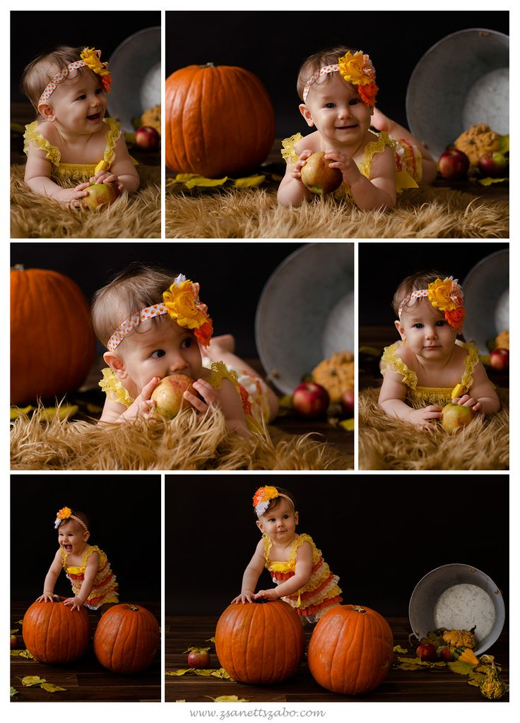 autumn/fall baby photography halloween pumpkin