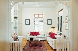 11 best images about house renovation on pinterest for Queenslander living room ideas