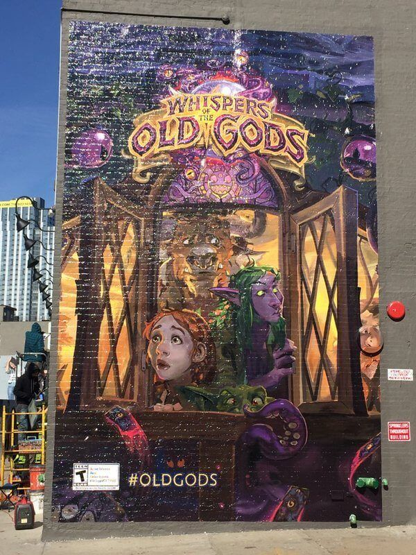 Whispers of the Old Gods painting in Brooklyn http://hearthstonehungary.hu/node/elkeszlt-a-whispers-of-the-old-gods-plakat
