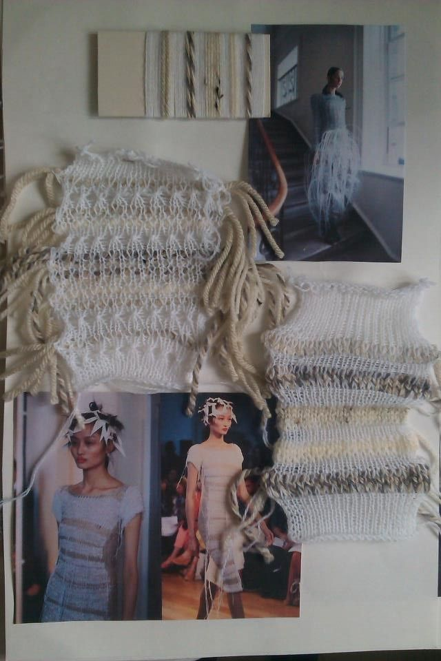 Fashion Sketchbook - knitwear design development with knit samples - fashion design process; fashion portfolio // Olivia Rose Havelock