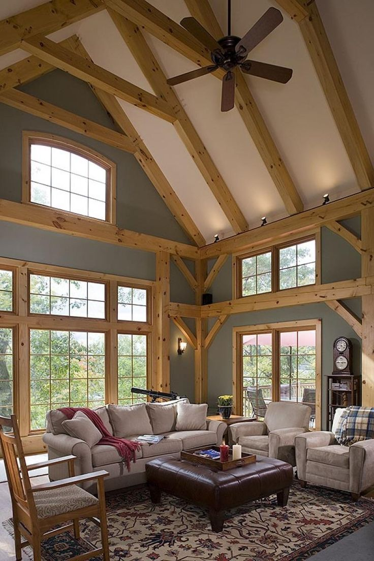timber frame home interiors. Great room photo in an Eastern White Pine Woodhouse timber frame home  Does not have to be a or the look of 42 best Inspiring Timber Frame Interiors images on Pinterest