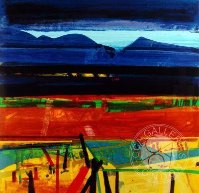 Achill Fence Silkscreen Print by Barbara Rae