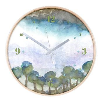 Trees by the sea 2 Wooden Wall Clock