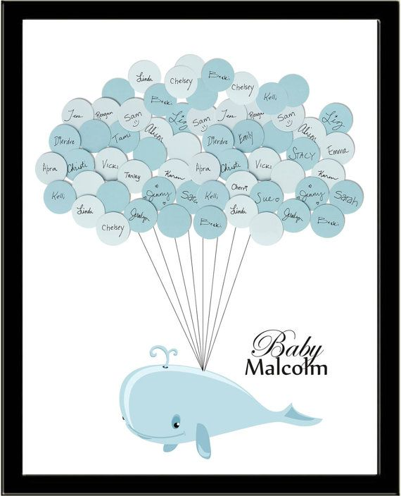 Whale Baby Shower Guestbook by stacylovestodance on Etsy