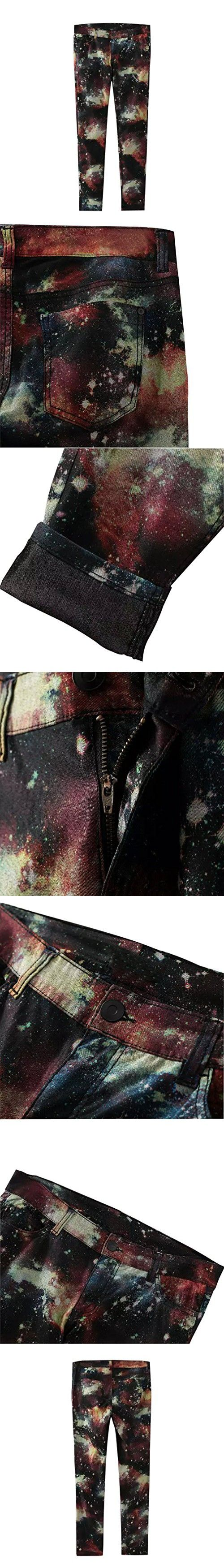 East Castle Women's Stylish Galaxy Pattern Skinny Pencil Pants W-202 20/0X US 18W