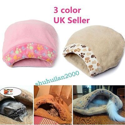 New cat #kitten #puppy dog igloo #house cave pet sleeping bed bag mat cushion uk ,  View more on the LINK: 	http://www.zeppy.io/product/gb/2/301909252647/