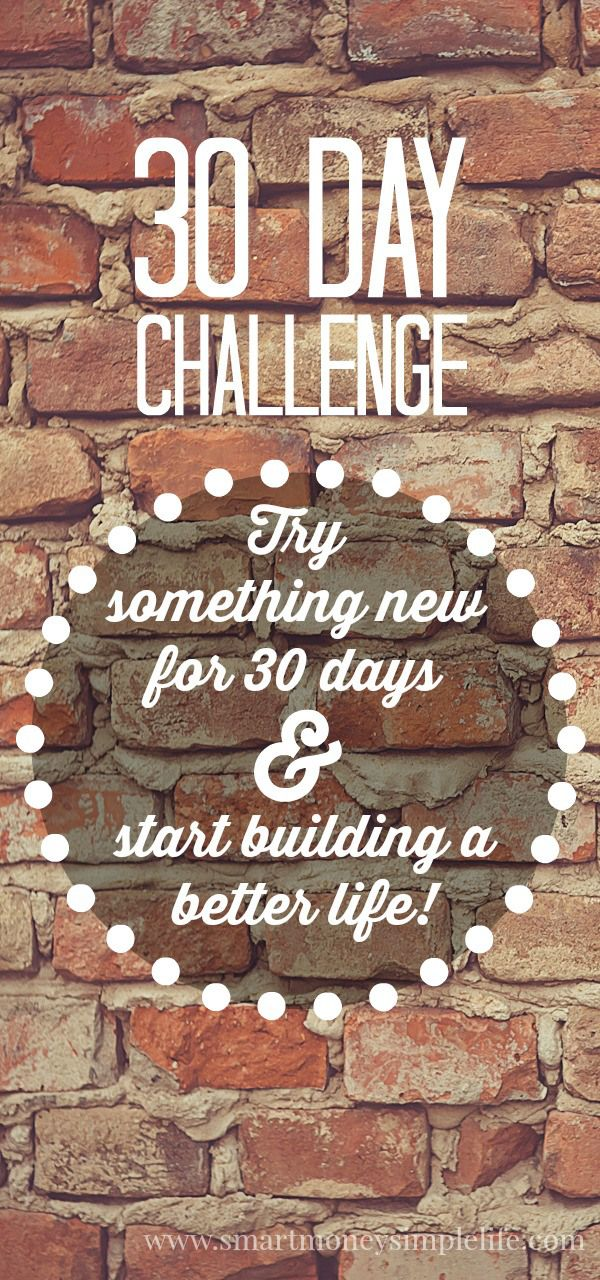30 Day Challenge - Try Something New for 30 Days