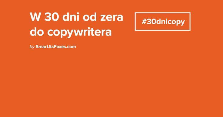 Bezpłatny kurs copywritingu #30dnicopy - W 30 lekcjach dzielimy się wiedzą jak pisać, co pisać i dla kogo. Profesjonalne narzędzia i unikalne wskazówki.