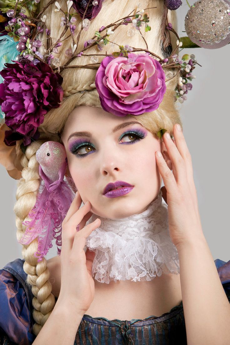 MADE TO ORDER Marie Antoinette butterfly bird cage sail boat headdress headpiece wig fantasy burlesque french baroque roccoco. $829.00, via Etsy.
