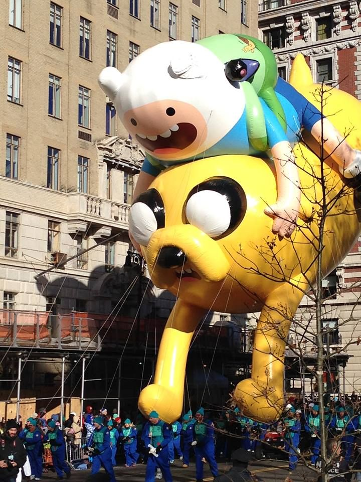 Fin and Jake float.  Adventure Time.