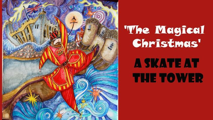 Colouring 'The Magical Christmas' Skate at the Tower / Раскраска-антистр...