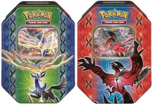 Collectible Trading Card Booster Packs - Pokemon 2014 Legend of Kalos Spring EX Tins SET BOTH 2 tins  1 of each  * Details can be found by clicking on the image.