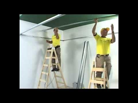 Cómo instalar un Cielorraso CIEL 7/60 Durlock - YouTube