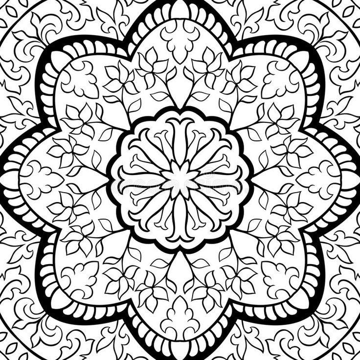 Filigree Pattern, Black And White
