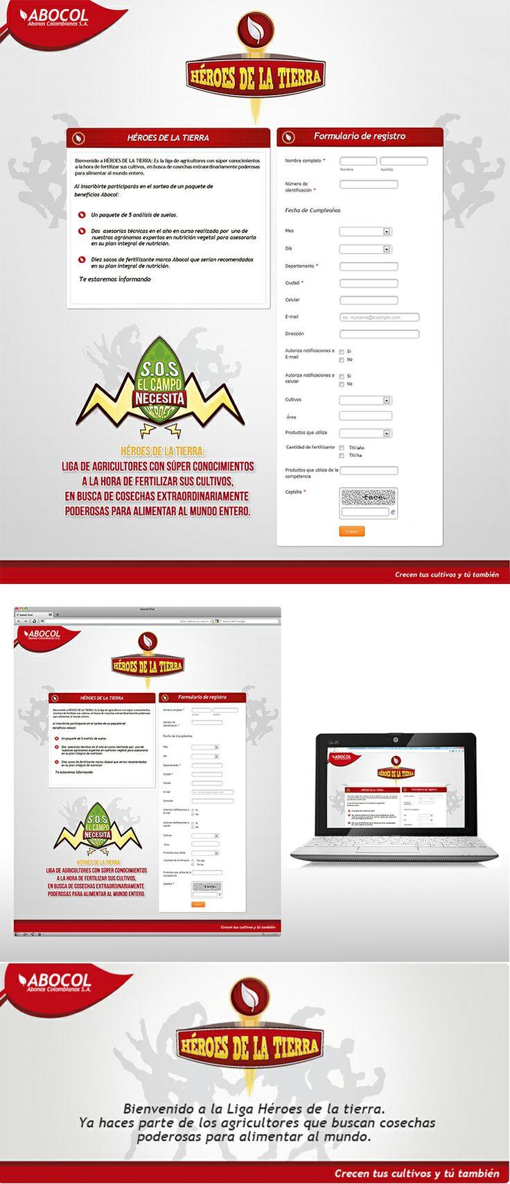 Mini site Abocol, Campaña Héroes de la tierra