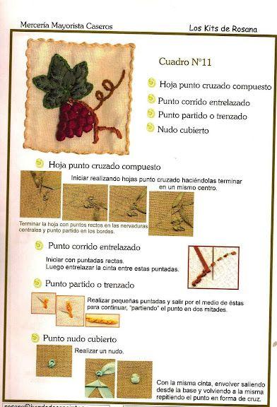Delicadezas en crochet Gabriela: Curso de bordados en cintas                                                                                                                                                                                 Más