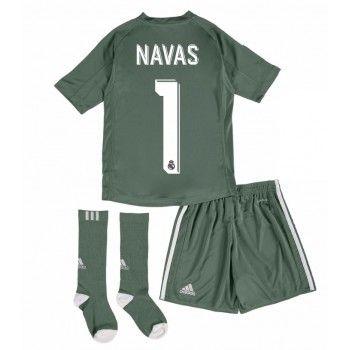 Real Madrid Målvakt Keylor Navas 1 kläder Barn 17-18 Hemmatröja Kortärmad  #Billiga #fotbollströjor