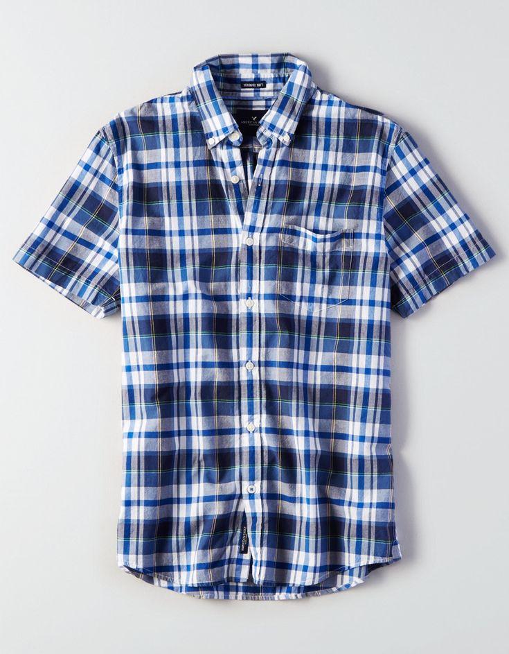 Short Sleeve Madras Shirt - AMERICAN EAGLE