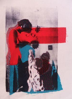 Amanda Knight, applique, screenprint & handstiching