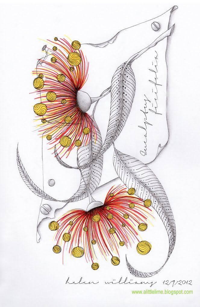 gum flowers 2-alittlelime.blogspot.com.au