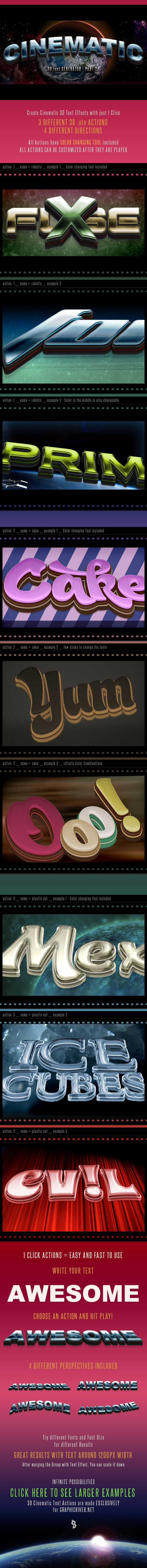 3D #Cinematic Text Generator 2 - Actions - Actions Photoshop #Actions #Text #Letters #TextEffects #TextActions #Photoshop #PSActions