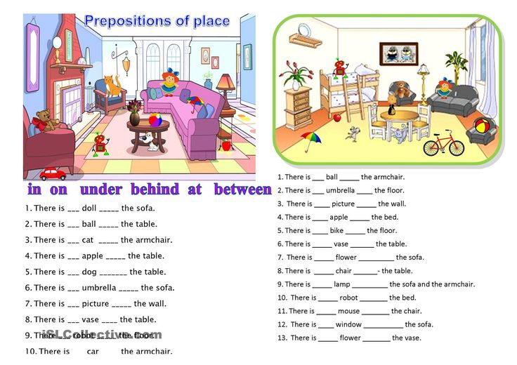 worksheets prepositions:
