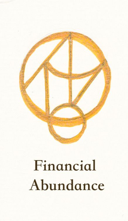 """sopherielspeaks: """" A sigil for Financial Abundance~ I drew this one on my wrist, for hopes of helping my business and intuitive work. To learn about sigils, how to use this, or get a custom sigil, click here! """""""