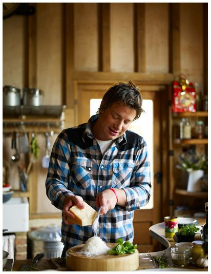 Jamie Oliver. Love this man. Watching his shows makes me happy! His style and passion of cooking..