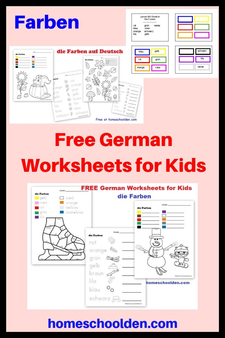 Free German Worksheets for Kids - Farben Help your kids learn their ...