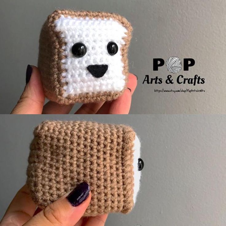 Made a little bread loaf! Check out my instagram feed for more of my work https://www.instagram.com/popartsandcrafts/ #crochet #amigurumi #bread #loaf
