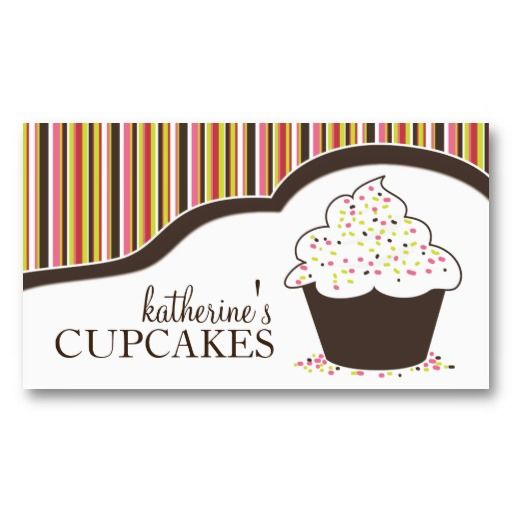 46 best customizable cupcake business cards images on pinterest whimsical bakery cupcake business cards cheaphphosting Image collections