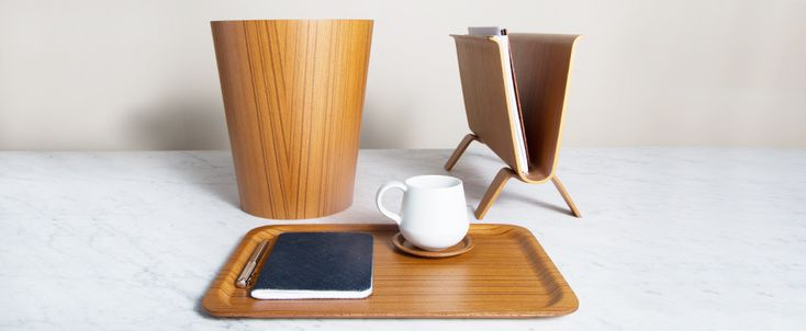 // Japanese Pressed Wood Waste Bin - Kaufmann Mercantile