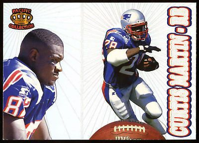 New England Patriots New York Jets 1995 Pacific Prism Curtis Martin Rookie NMMT | eBay