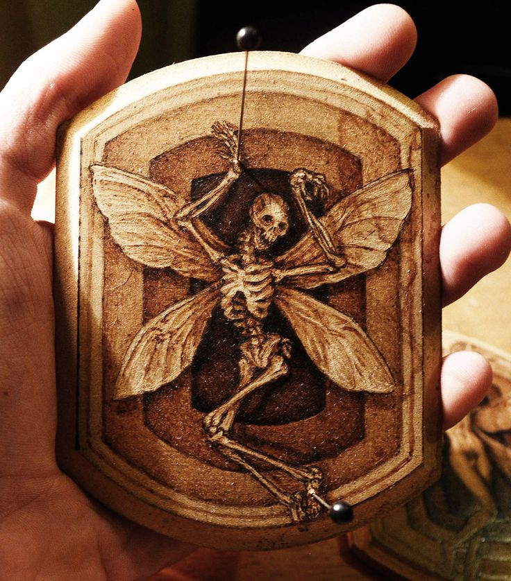 Scream of the butterfly, burnt on wood, pyrography, wood burnt art by BurnPeter on Etsy