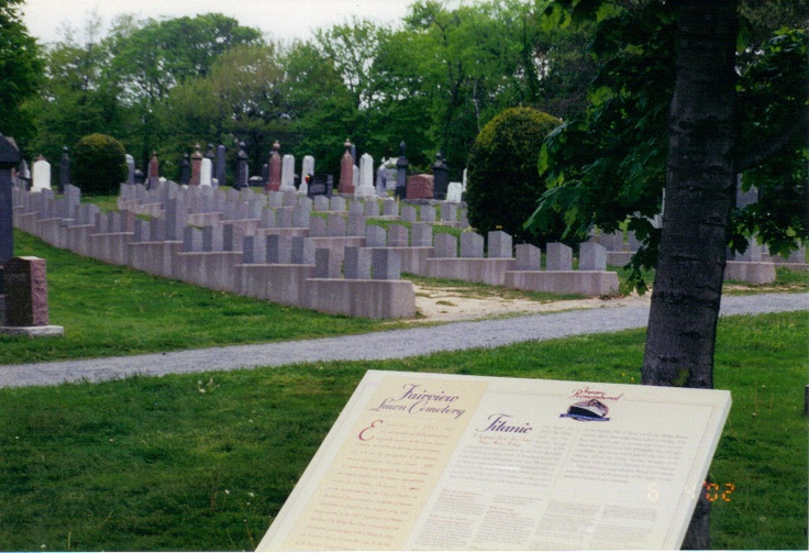 Titanic Graveyard in Halifax, NS. Canada where most are buried.