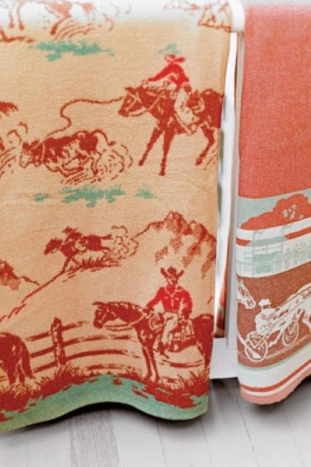 Vintage Cowboy Blankets--LOVE LOVE LOVE these!