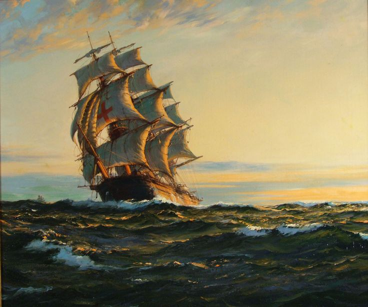 The Derwent - Montague Dawson - inspiration.  Not sure if the one I have is real or not.