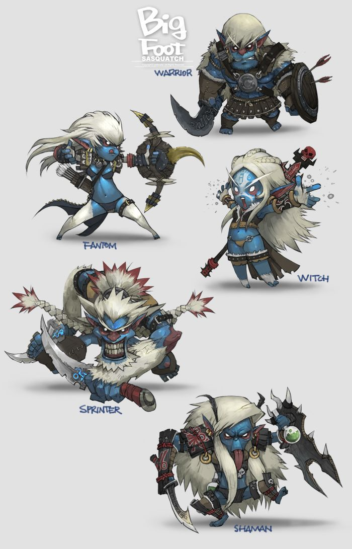awesome sasquatch characters by Lee Deok Soo - http://blog.naver.com/porksoda2010