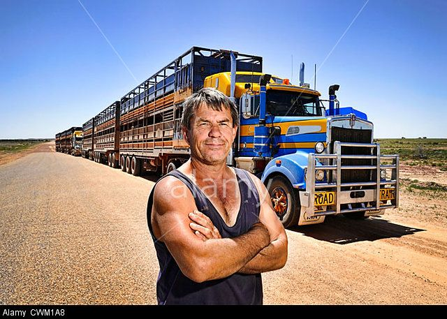 Cattle truck driver, Western Queensland, outback Australia.